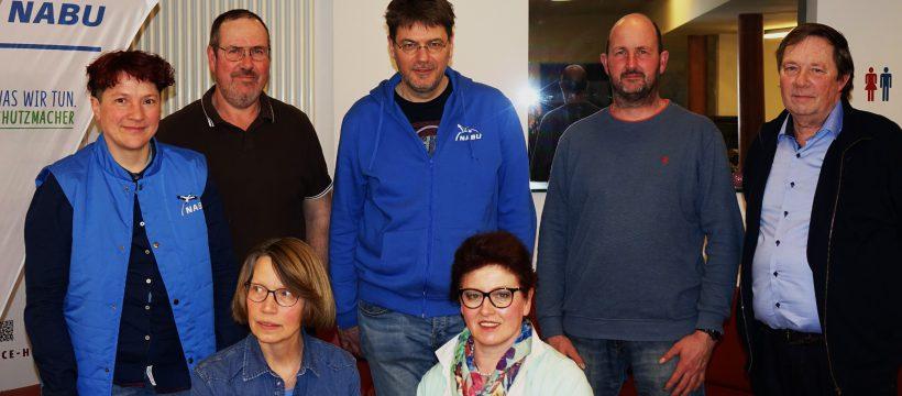Der Vorstand des NABU KV Gütersloh war fast vollständig: V.l.n.r.: Stefanie Klappenbach-Riewenherrm, Gerhard Wulfhorst, Andreas Hänsel, Thorsten Thiel, Dirk Blome, Sigrid Schwarze und Margret Lohmann